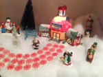 The adorable Christmas Village...