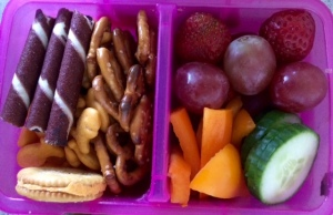a great assortment of healthy and fun food for snack time